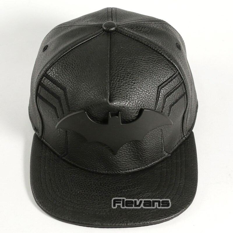 DC Comics Super Hero Batman Snapback   Caps   Cool Fashion Hip Hop Hat Adult Mens Leather   Baseball     Cap