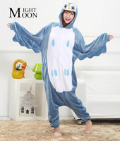 Owl Animal Pajamas Unisex Pijama Adults Flannel Pyjamas Womens Sleep Tops Costume Onesies Robe