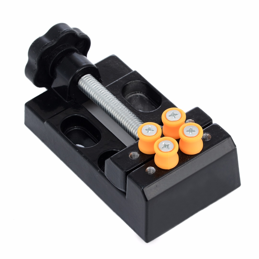 1pc Black Jaw Bench Clamp Mini Drill Press Vice Micro Clip Opening Parallel Table Flat Vise DIY Hand Tools 105 x 55 x 35mm