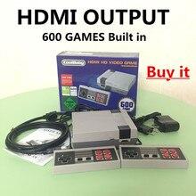 4 стиля мини консоль Поддержка HDMI/AV ТВ Ручные игры игровой консоли к HDMI/ТВ с 620 /600/500 Встроенные игры