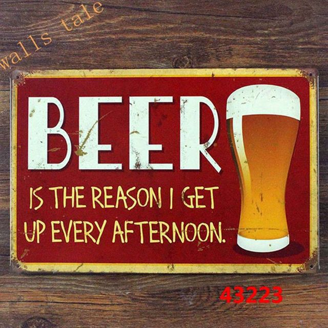 Wall Art Quotes For Pubs : Aliexpress buy funny bar sign of beer tin