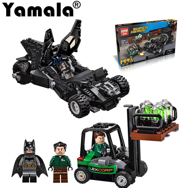 [Yamala] Super Heroe Batman Race Truck Car Model Technic Building Block SetS DIY Toys Compatible with Lepin Marvel Gift For Boy 2017 enlighten city series garbage truck car building block sets bricks toys gift for children compatible with lepin