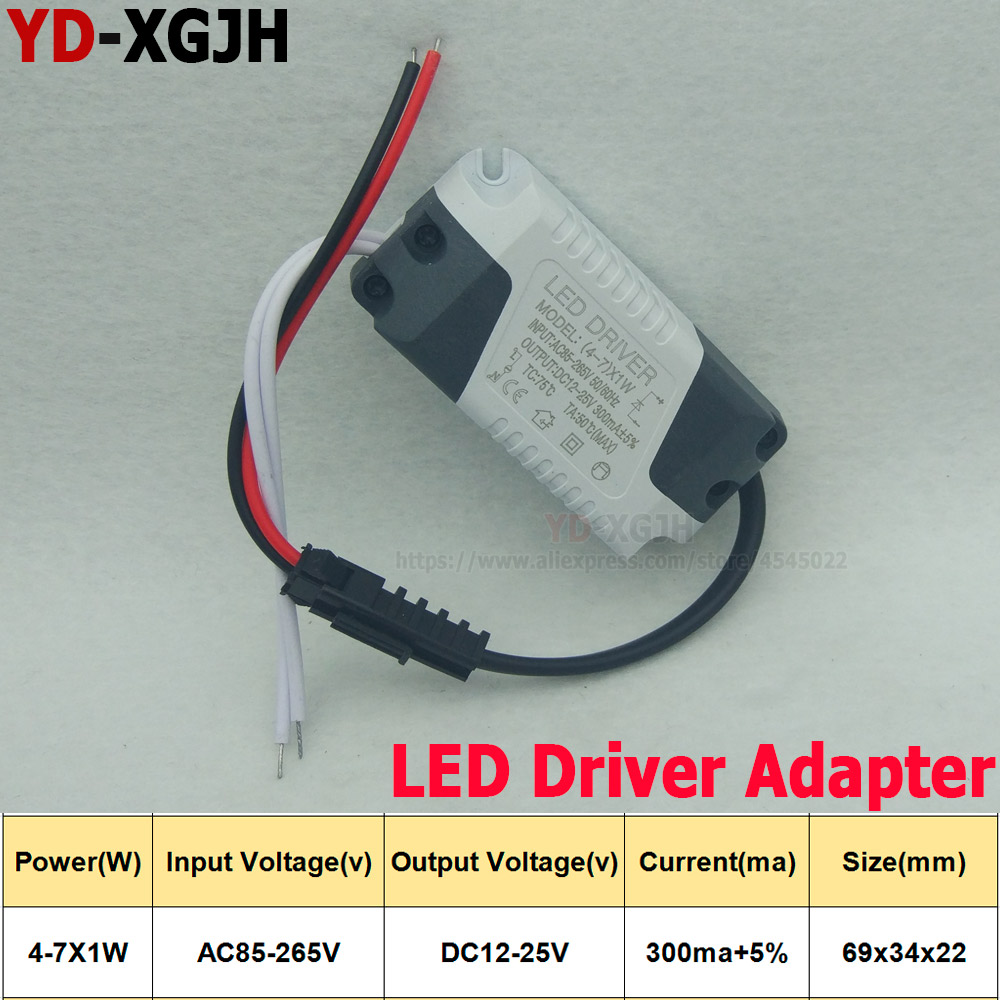 10PCS/Lot 4-7X1W LED Driver Power Supply <font><b>Adapter</b></font> Input AC85-265V Isolating Lighting Transformer Constant Current 220mA image