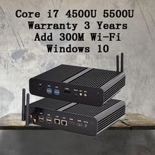 Mini pc graphique hd 5500 без ventilateur windows 2 hdmi sd заказ 4 К htpc mini-itx микро-intel core i7 5500u мини компьютер