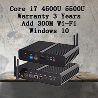 Mini PC Graphique HD 5500 Sans Ventilateur Windows 2 HDMI SD Carte 4 K HTPC Mini