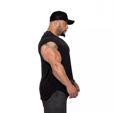 Men/'s Muscle T Shirt Breathable Short Sleeve Gym T Shirts in Black//White