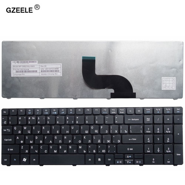 GZEELE الروسية لوحة المفاتيح لابتوب أيسر أسباير 5253 5333 5340 5349 5360 5733 5733Z 5750 5750G 5750Z 5750ZG 5250 5253G RU جديد