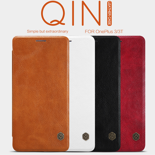 best sneakers ac964 94cd0 US $9.89 |Nillkin Vintage Qin wallet flip leather hard plastic back cover  for Oneplus 3 case free shipping for Oneplus 3T case (5.5 inch)-in Wallet  ...