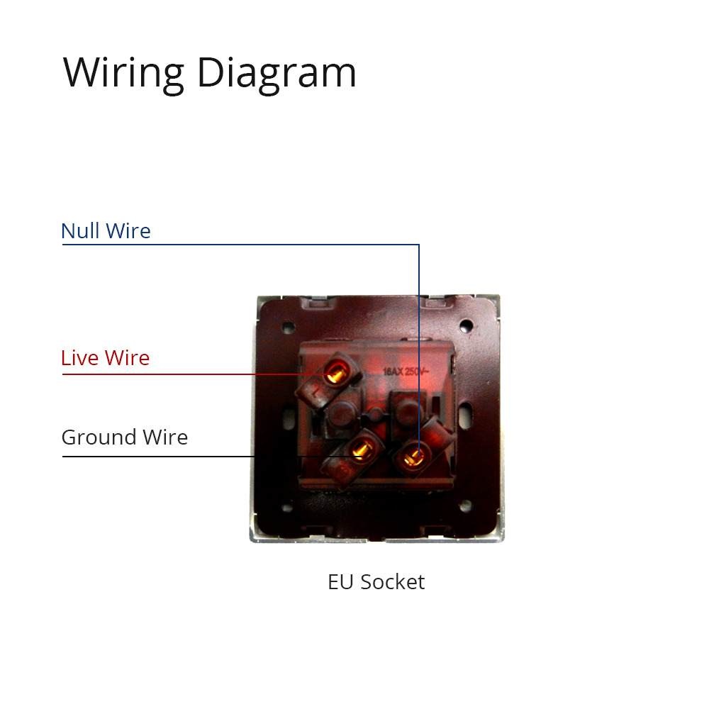 2 Pin Eu Socket Schuko Wallpad Luxury Wall Electric Power Gang Wiring Diagram Outlet Mirror Acrylic Panel French Standard 16a Ac 110250v In Switches From Lights