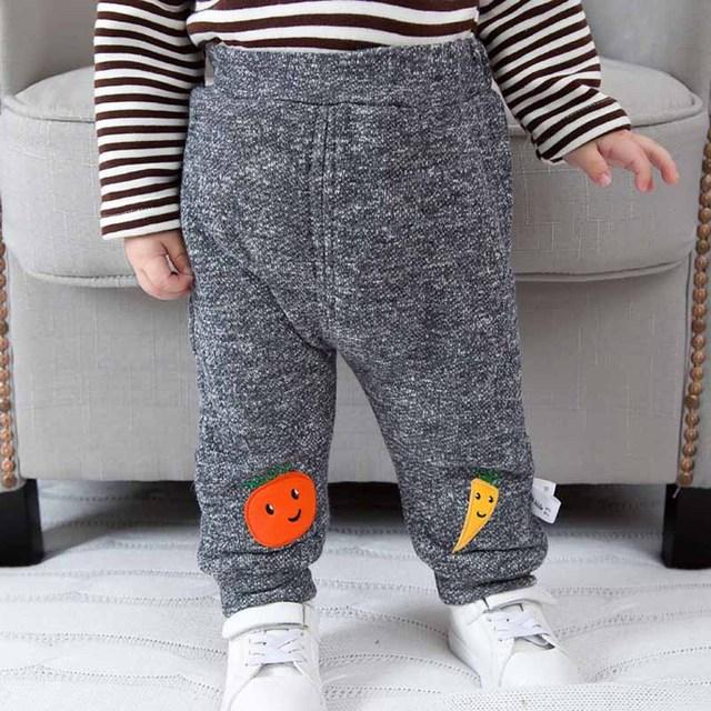Inverno Novo Bebê Meninos Calças Meninas Crianças Roupas de Algodão Engrossar Cintura Calças Do Bebê Das Meninas Dos Meninos do bebê Calças Compridas Bebê Menina roupas