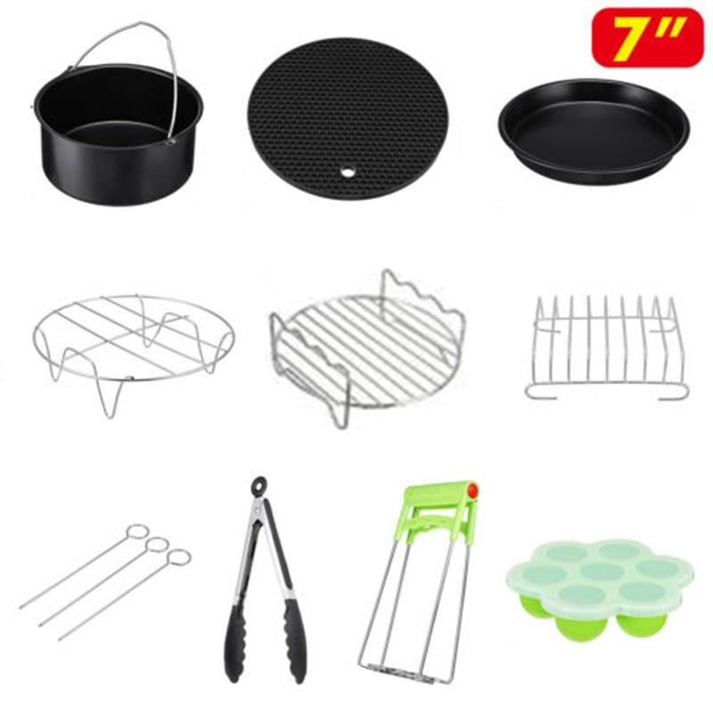 12 Pcs/Set  Basket/Clip/Grill Air Fryer Accessories For Philips 3.2~5.8QT 7-inch12 Pcs/Set  Basket/Clip/Grill Air Fryer Accessories For Philips 3.2~5.8QT 7-inch