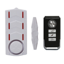Wireless Rechargeable Vibration and Magnetic Alarm Anti-Theft Remote Control Door And Window Security Alarm with Light