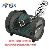 Portable Bluetooth Speaker 10W Power Soundbox Stereo Bass Audio Boombox Outdoor Sports Hifi Music Tf Aux Party Clock Soundbar