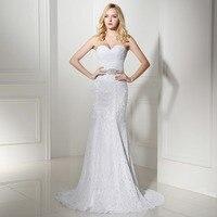 2016 In Stock Real Photo Cheap Elegant Mermaid Lace Wedding Dress Sweetheart Bridal Gown Vestido De