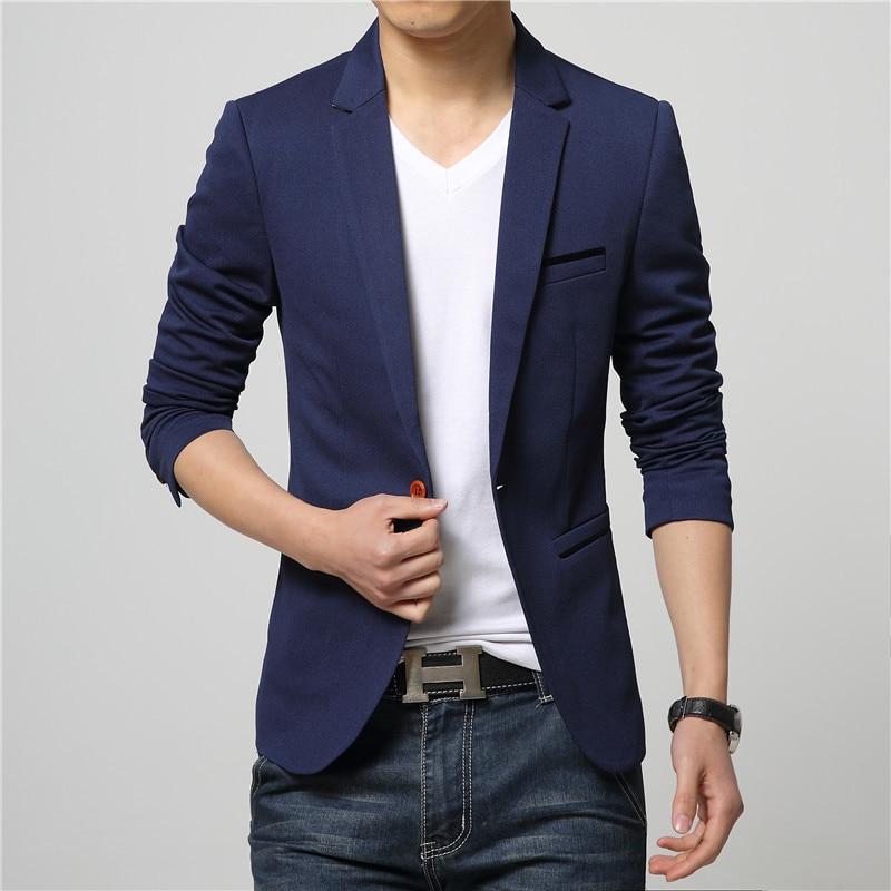 25.1 Customized new hot men\`s trend wild suit jacket casual solid color men\`s business men\`s formal suit