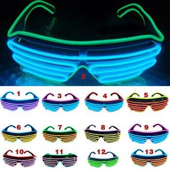 viele modisch Neuankömmlinge Rabatt bis zu 60% Neue LED Sonnenbrille Blinkende EL Draht Leucht Licht Up Neon Gläser  Kostüme Party Dekorative Beleuchtung Activing Prop Partei Versorgung
