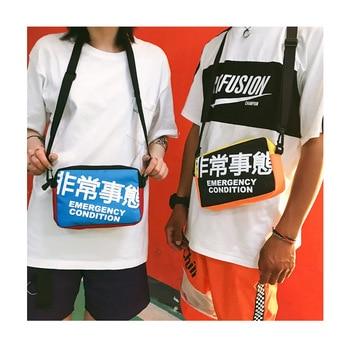 香港スタイルのカジュアルメッセンジャーバッグ人気のショルダーバッグ男性と女性プレッピースタイルヒップホップストリートクロスボディ電話バッグメッセンジャーバッグ