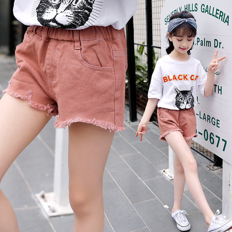 Girl's clothing hole jeans shorts jeans 2018 children's clothing hot new fashion summer kids girls pants