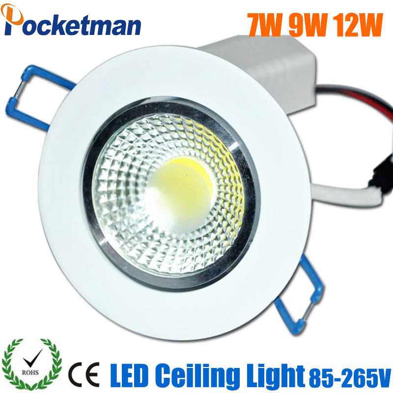2017 Newest LED Downlight 7W 9W 12W 15W Spot LED DownLight 220V LED Spot Recessed Down light COB White house