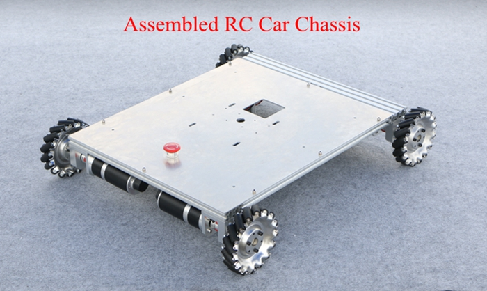 2018 4WD RC Car Chassis 152mm Wheel Max. Load 60kg 100W Photoelectric Encoder Planetary Geared Motor