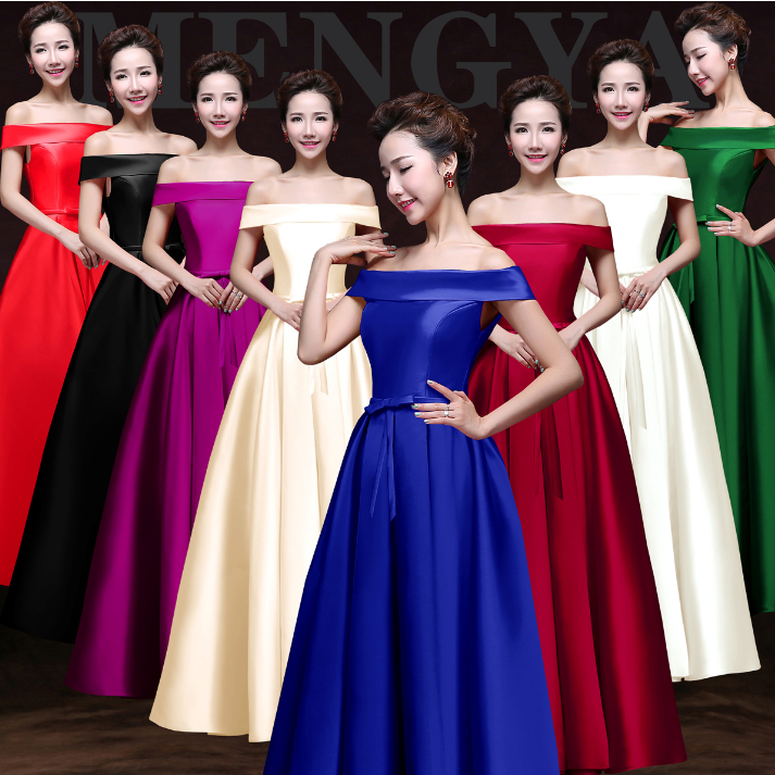 Fine Blue And Red Bridesmaid Dresses Gift