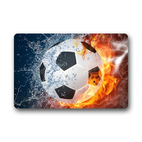 Memory Home Cool Soccer Ball Art Non Slip Indoor Or Outdoor Door Mat