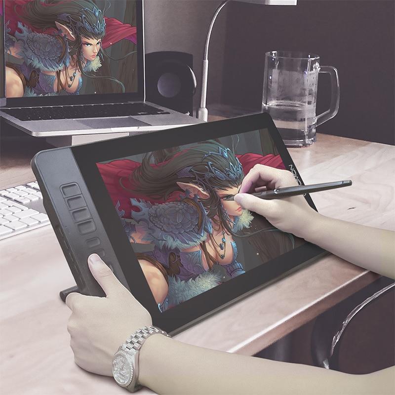 GAOMON PD1560 15,6 pulgadas 10 llaves arte gráficos profesionales Tablet con pantalla pluma dibujo Tablet Monitor para ganar y Mac con regalos - 2