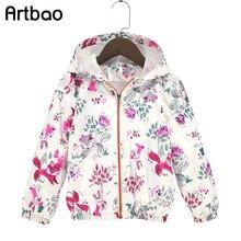 Artbao 2017 Été automne enfants survêtement filles Nouveau style européen filles à capuchon vestes 1-6Y enfant coupe-vent manteaux pour filles CQ07