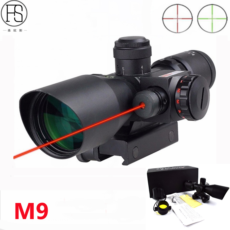 Tactical Riflescope 2.5-10x40 Green Red Dual Illuminated Laser Sight Hunting Rifle Scope Outdoor Gun Shooting Scope 11/20mm Rail hot tactical riflescope 2 5 10x40 optics red laser holographic sight scope illuminated shooting hunting scope 11 20mm rail mount