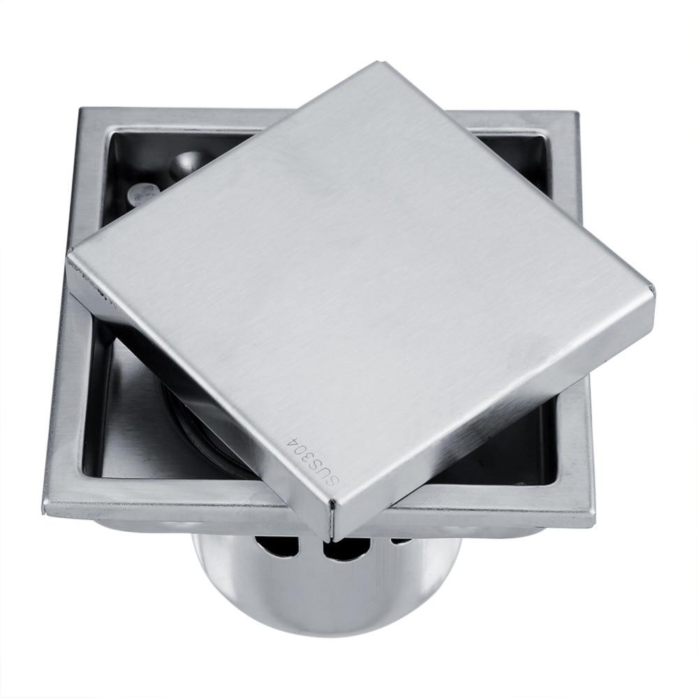 Stainless Steel Bathroom Floor Drain Anti odor Square ...