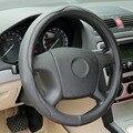 Capas pretas sobre o volante do carro de couro cobertura de volante para ford focus Rodas de Direção Volante Hubs