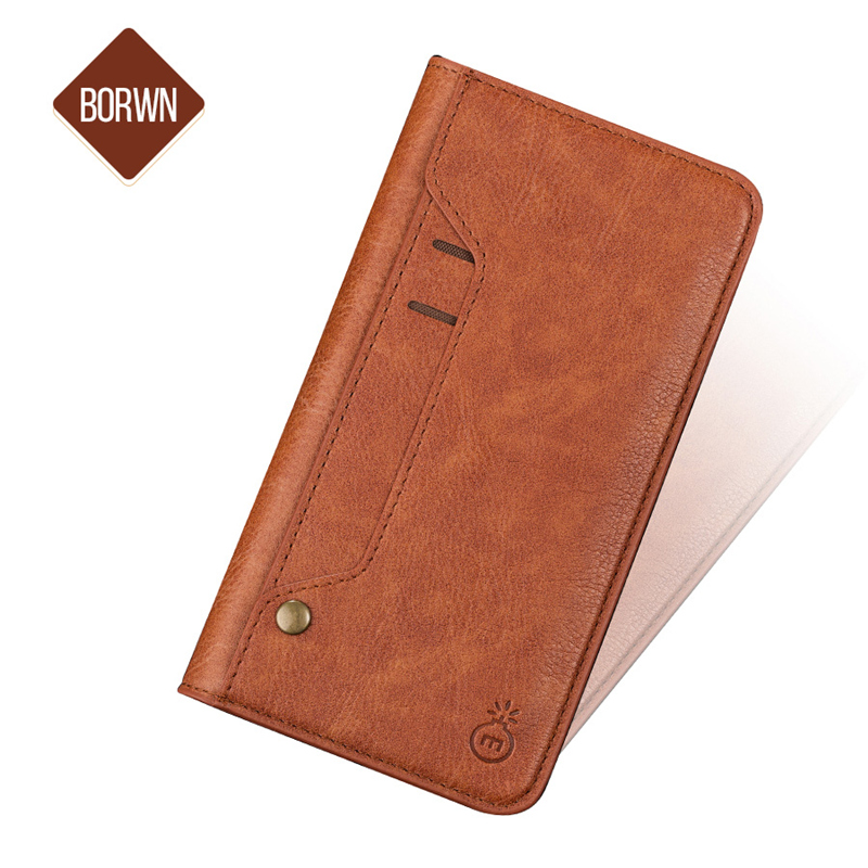 Musubo Luxury Flip Leather Case For iPhone X 8 Plus 7 6 6s Plus Wallet Cover For Samsung Note 8 S8 Stand Cases Coque capa Card