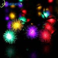 OSIDEN 5M 20 LED futrzana piłka RGB Edelweiss śnieżynka led girlanda żarówkowa  220 V/110 V kolorowe świąteczne oświetlenie led girlanda żarówkowa w Girlandy świetlne od Lampy i oświetlenie na