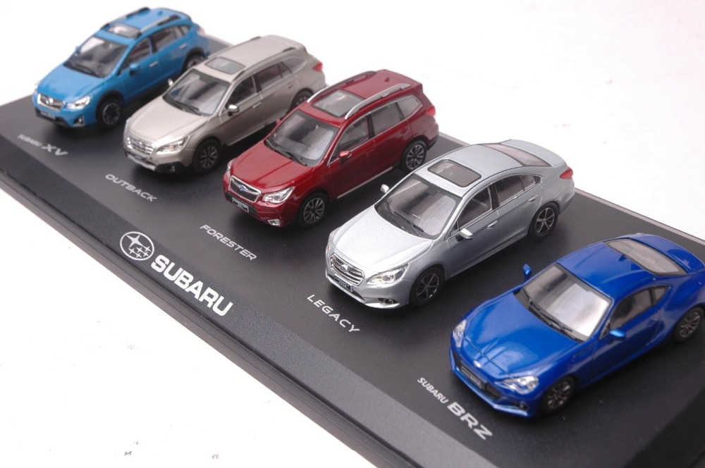 где купить A Set of Five 1:43 Subaru XV Outback Forester Legacy BRZ (without colour box& cover is broken) Diecast Model Toy Car по лучшей цене