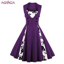 Dress Retro Rockabilly-Swing Tunic Women Robe Vestidos Elegant Vintage Plus-Size Summer