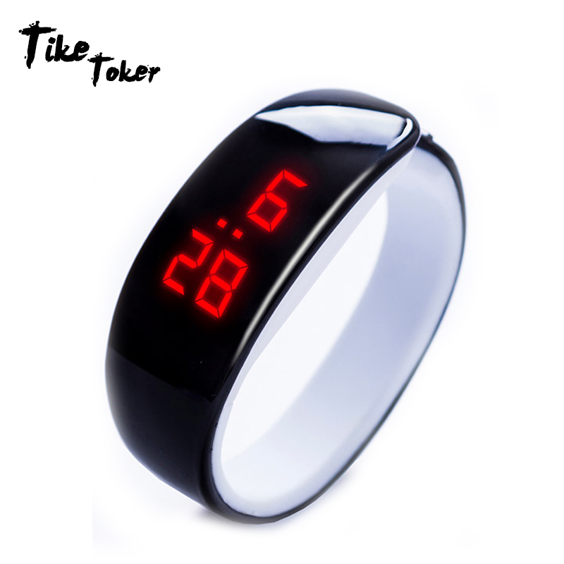 TIke Toker,Women Watchs Men Wristwatch LED Bracelet Watch Waterproof Candy Color Digital Sport Clock 2018 New Hot Sale Relogio(China)