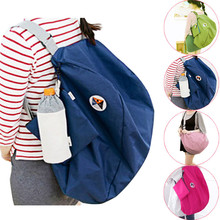Folding Storage Shoulder Bag Backpack Multifunctional Finishing Package Holding shampoo conditioner contact lens solution