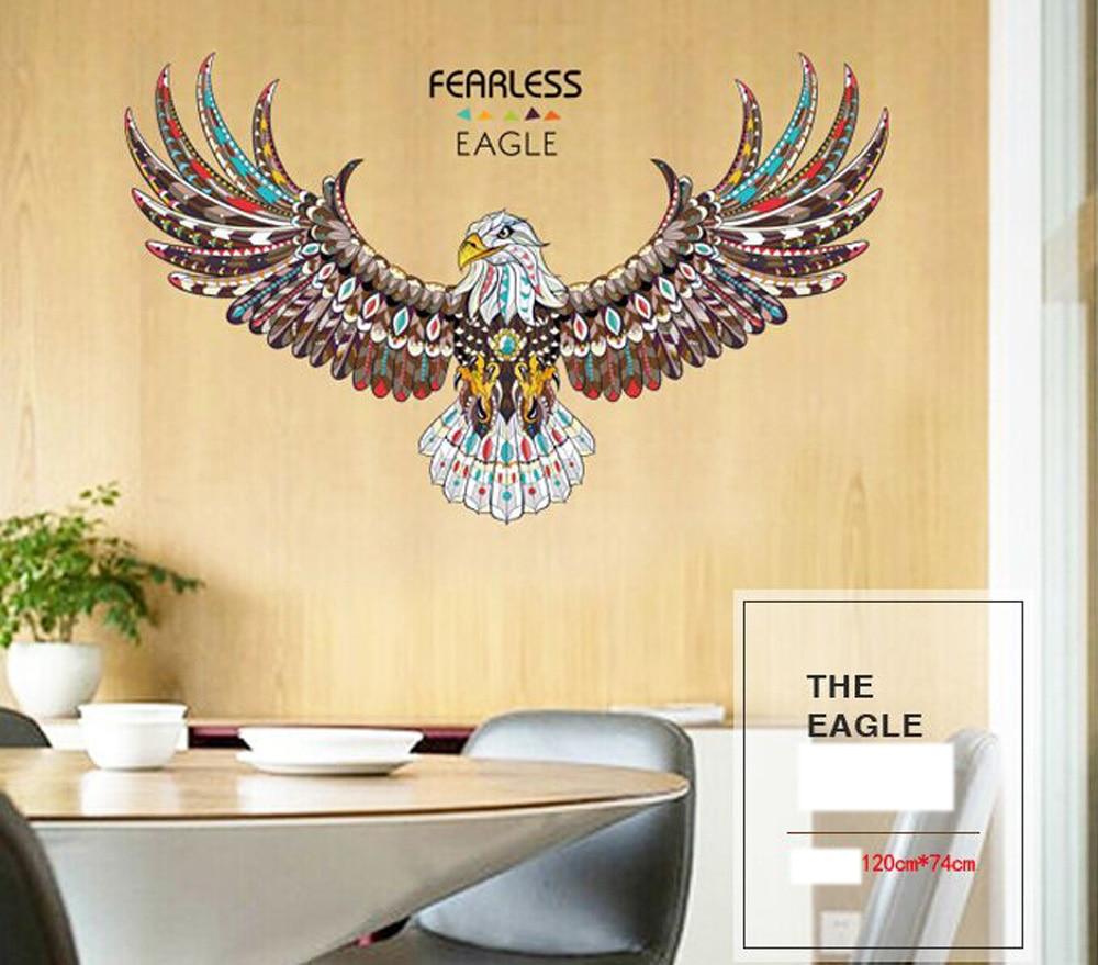 Creativo El Aguila Estira Su Alas Pegatinas Wallpaper Hogar Adorno - Adornos-para-pared