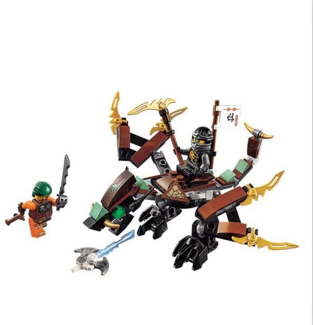 Bela 10447 Ninja Thunder Swordsman The Earth Dragon of Cole Bricks Building Block Compatible Legoings 70599 free shipping hot ninja thunder swordsman fiery dragon assemble building block toys