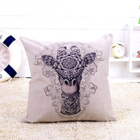 Hot-sale Home Car Bed Sofa Decorative Giraffe Pillow Case Cushion Cover pillowcase Best Price May30