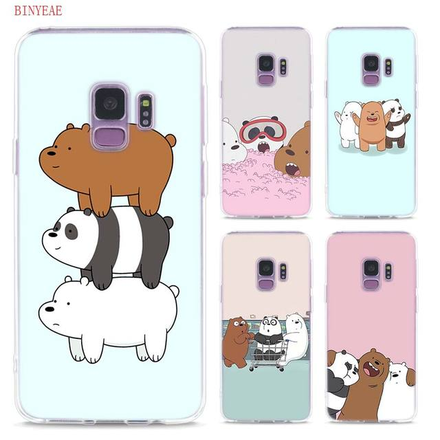 best sneakers 183f0 208c7 US $2.23 29% OFF|Transparent Soft Silicone Phone Cases we bare bears For  Samsung Galaxy S9 S8 Plus S7 S6 S5 S4 Mini Edge-in Fitted Cases from ...