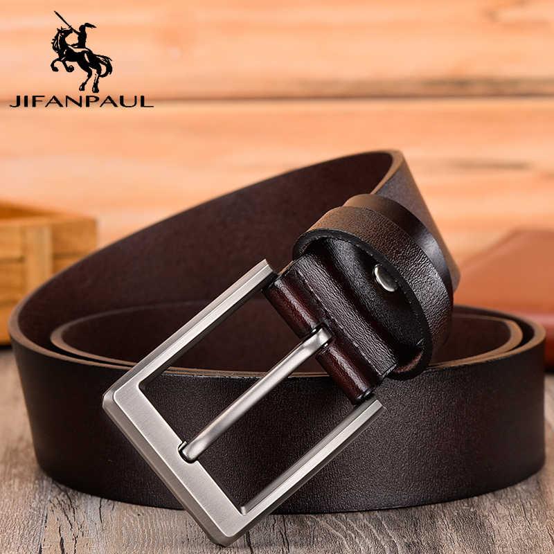 JIFANPAUL 革男性のベルト古典的なピンバックルのデザインファッション現代の若者の装飾高品質新ベルト送料無料