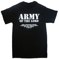 Army of the Lord Christian Jesus Christ Men and Women couples Matching T Shirt Novel style Custom Printing T Shirt Plus Size L