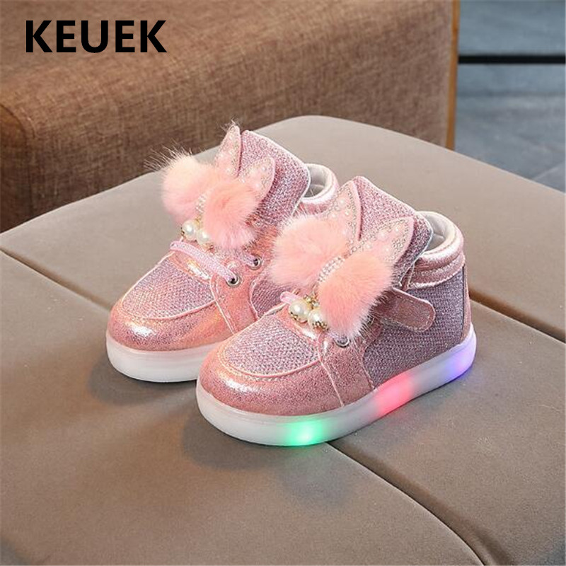 New LED Children Light Shoes Baby Student Sneakers Lighted Flats Toddler Shoes Children Glowing Luminous Sports Shoes Kids 02