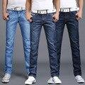 2017 Spring Autumn Winter Brand Jeans Men Fashion Men's Dark Straight Waist Jeans Trousers Famous Brand Men Mens Biker Jeans