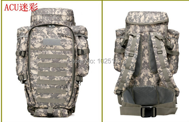 149a0728456c Tactical army big capacity outdoor travel Molle Extended Full Gear Dual  Backpack Bags for Airsoft CP multicam