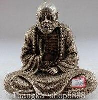 Рождество, китайский Буддизм Серебряный сиденья Дамо Дхарма Архат Бодхидхарма статуя Будды Хэллоуин