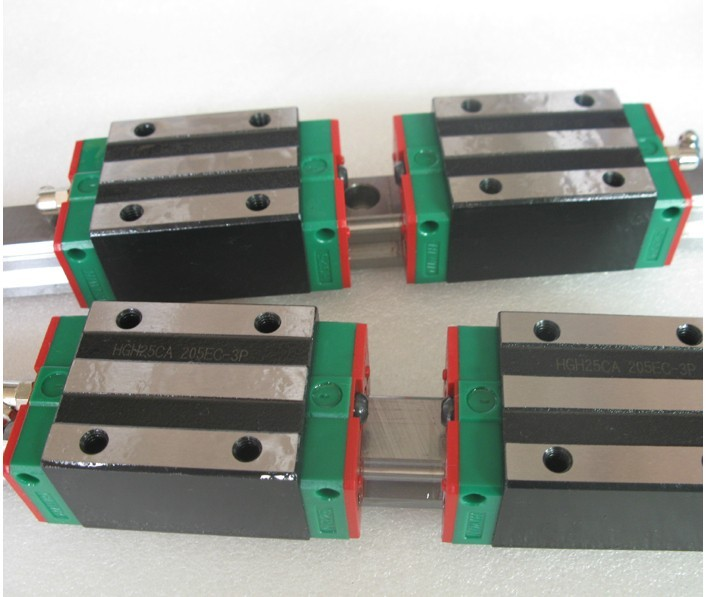 2pcs Hiwin linear guide HGR25-400MM + 4pcs HGH25CA linear narrow blocks for cnc router
