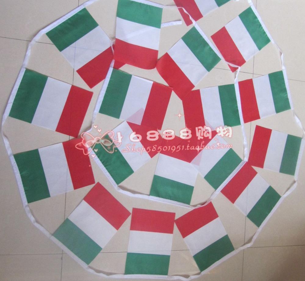 punto de la bandera italiana bandera italiana banderas cadena pequeas banderas m cara cm bar de decoracin del hog