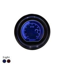 52 мм Автомобиль EVO Цифровой Turbo Boost Gauge Psi Метр Датчик Синий ЖК-Цифровой Turbo Boost Метр 52 мм Автомобилей Turbo Давления манометр Наддува
